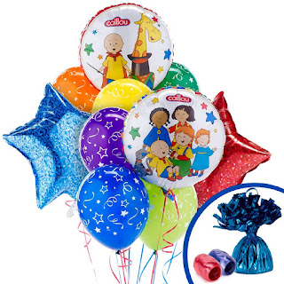 Caillou birthday party ideas-balloon bouquet