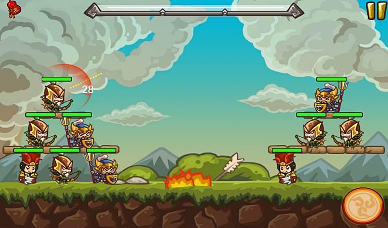 ฉากการรบในเกมสามก๊ก Radical Three Kingdoms