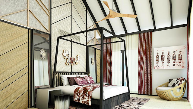 Amari Havodda Maldives 水上泳池別墅-寢室