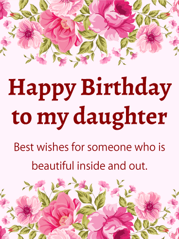 Lovely Happy Birthday Wishes | Quotes | Messages and Images for Daughter