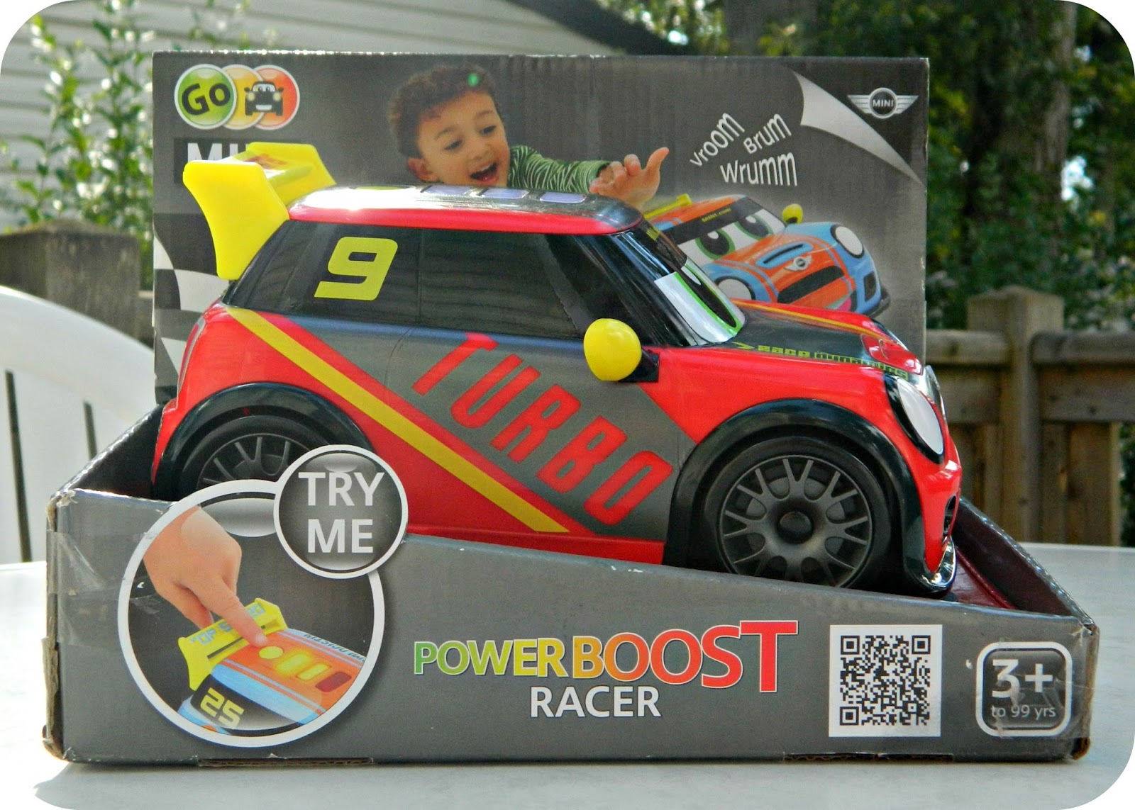 Go Mini Power Boost Car from Golden Bear Toys Red