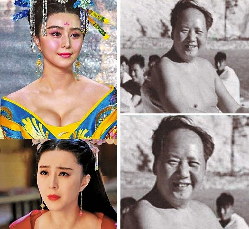 中國茉莉花革命: 不滿《武媚娘》刪胸 網民禁毛澤東露點 (圖)