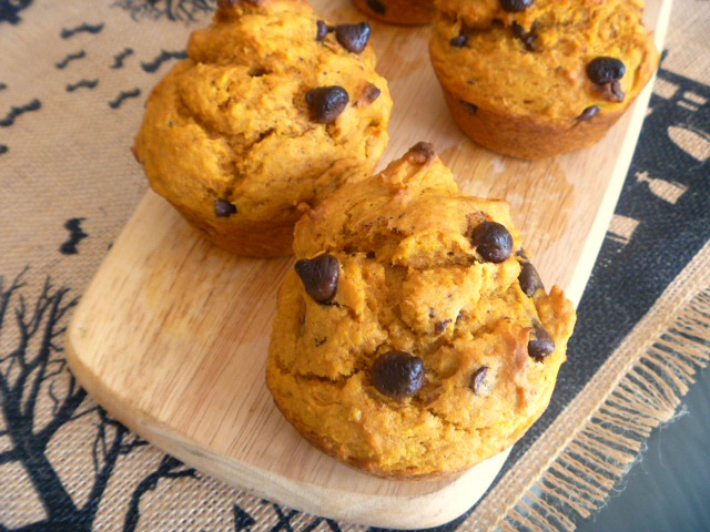 Small Batch Pumpkin Chocolate Chip Muffins:  The pumpkin flavors pop in this moist muffin that's studded with mini chocolate chips. - Slice of Southern