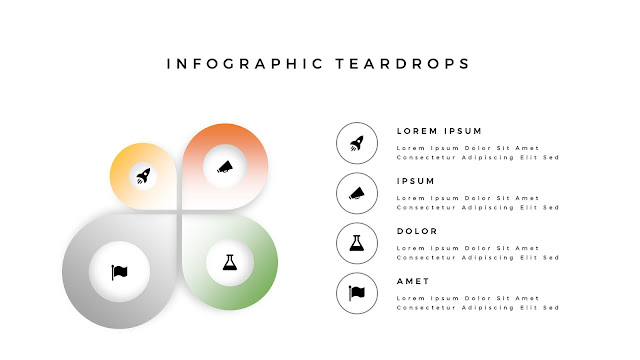 Infographic Teardrop elements for PowerPoint Slide 6