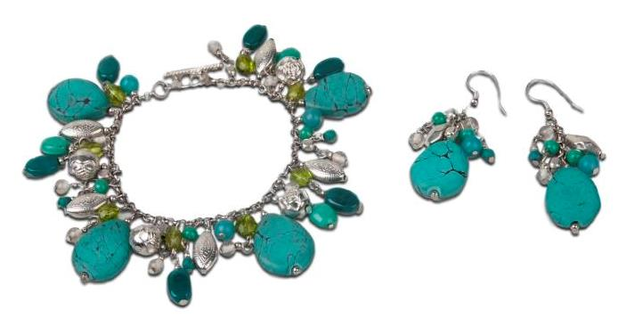 Drops of Turquoise earrings and bracelet.jpeg