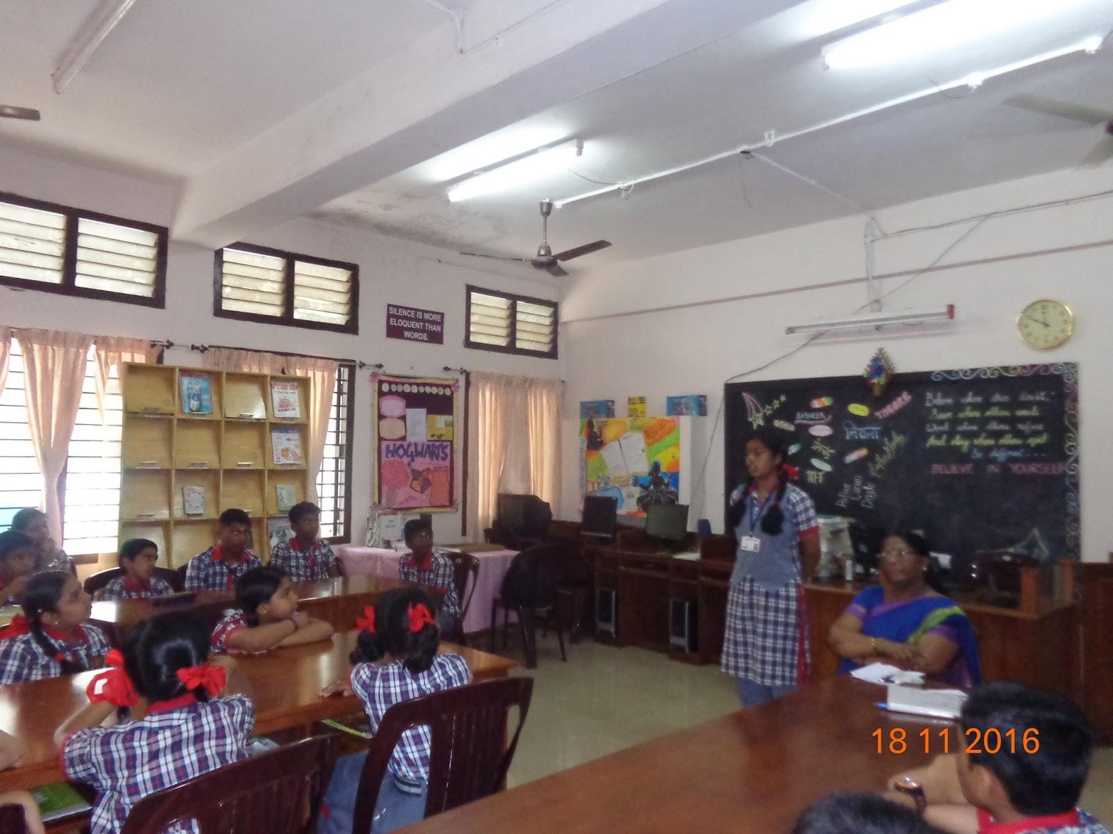 Kendriya Vidyalaya Ottapalam Library Club Activity