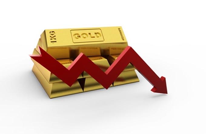 انخفاض أسعار الذهب لاعتزام المركزي الأمريكي عدم التخفيض من أسعار الفائدة