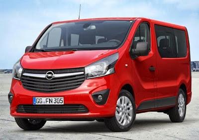 2015 Opel Vivaro Front View Model