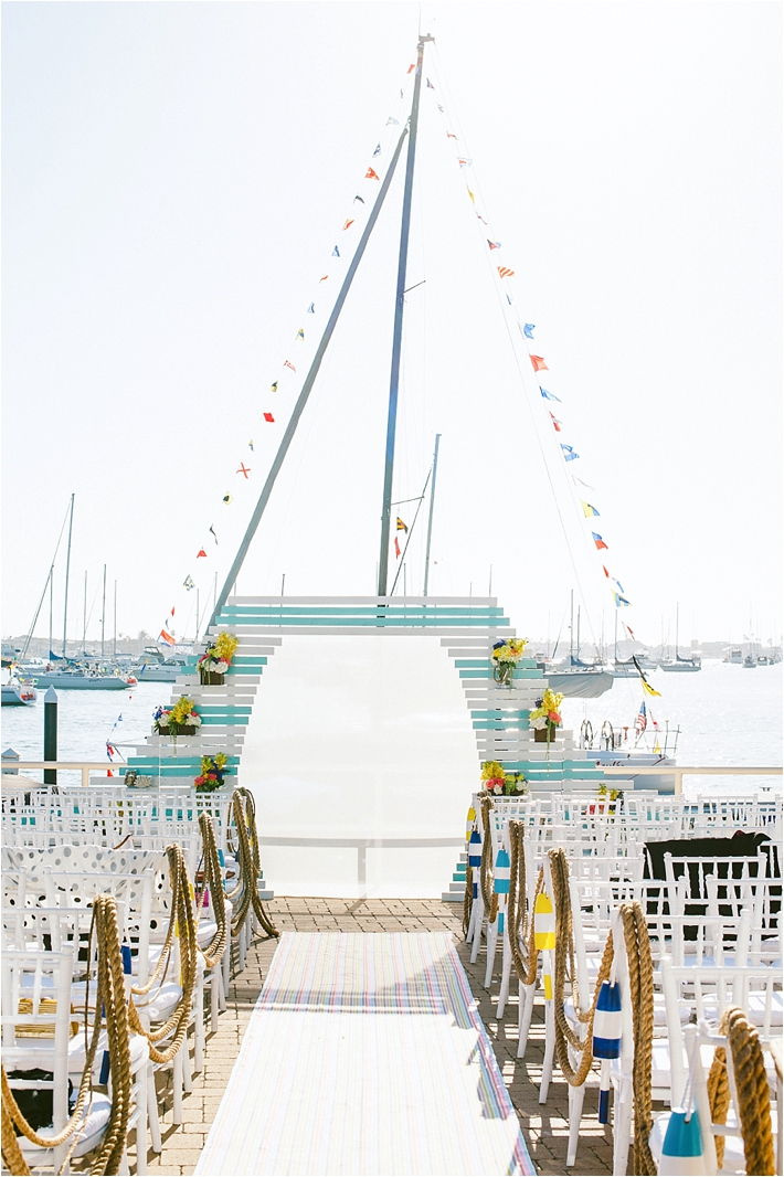 Bermuda/Nautical-Inspired Ceremony | Photo by: Sargeant Creative
