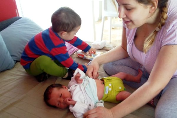 dwulatek i noworodek, puppi pieluszka wielorazowa newborn
