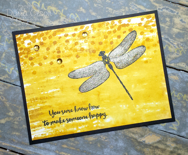 Handmade card created with Dragonfly Dreams by Darla Olson at Inkheaven