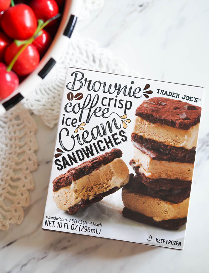 Trader Joe's Brownie Crisp Coffee Ice Cream Sandwiches Review