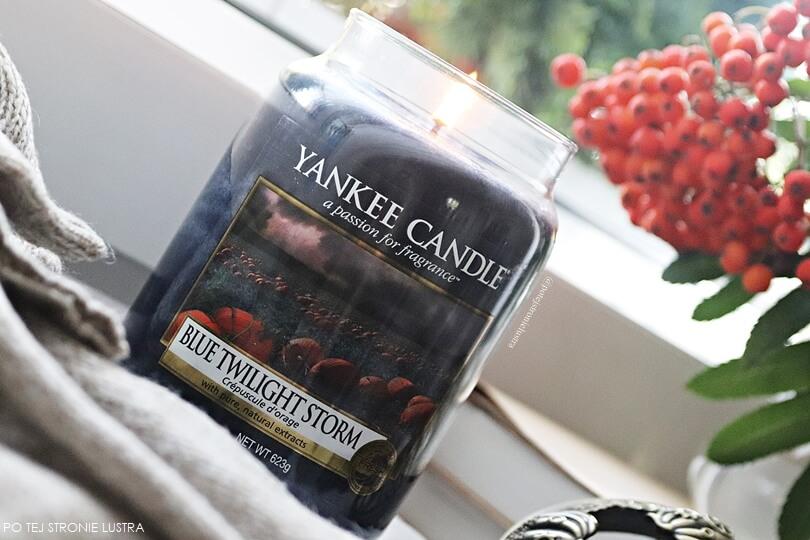 etykieta świecy yankee candle blue twilight storm