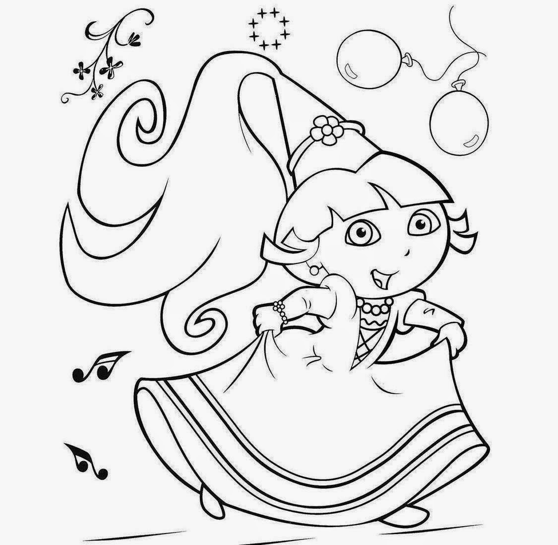 Dora princess coloring pages ~ Colour Drawing Free Wallpaper: Princess Dora Coloring ...