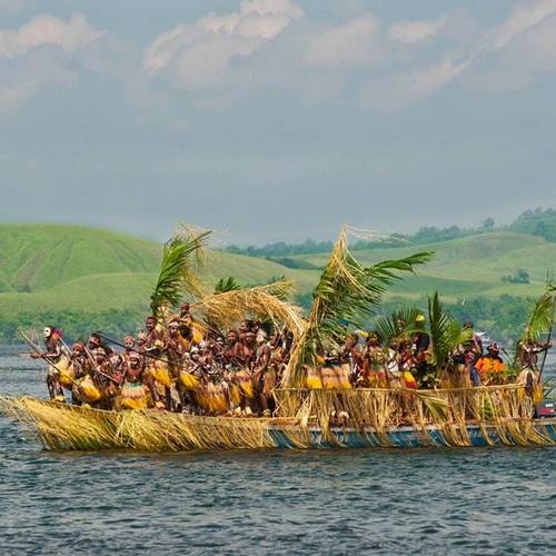 Tinuku Travel Lake Sentani Festival an annual folk cultural every June on Kalkhote beach, Jayapura, Papua