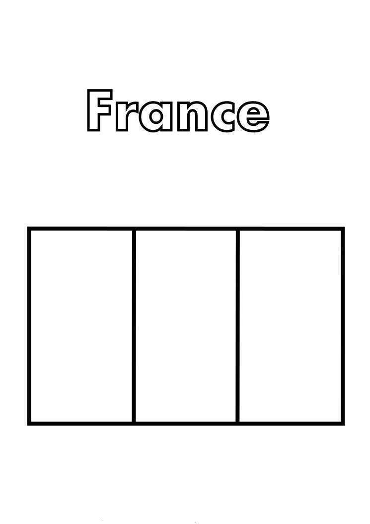 France Flag Coloring
