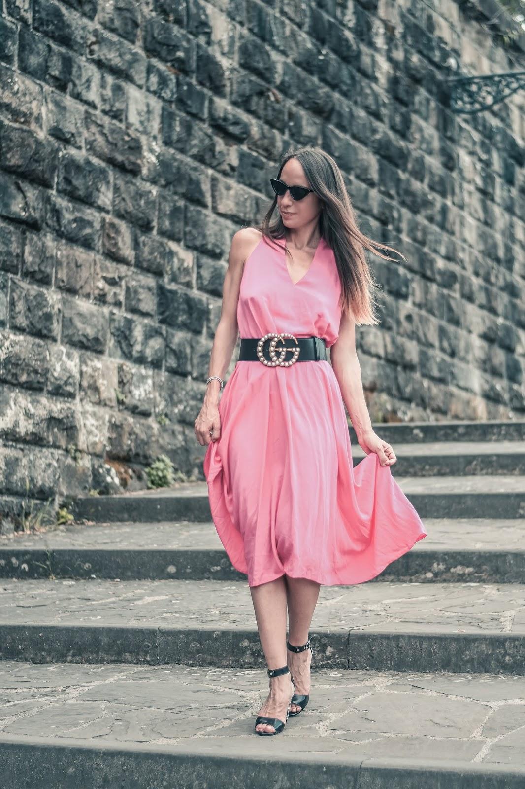 abito rosa fucsia