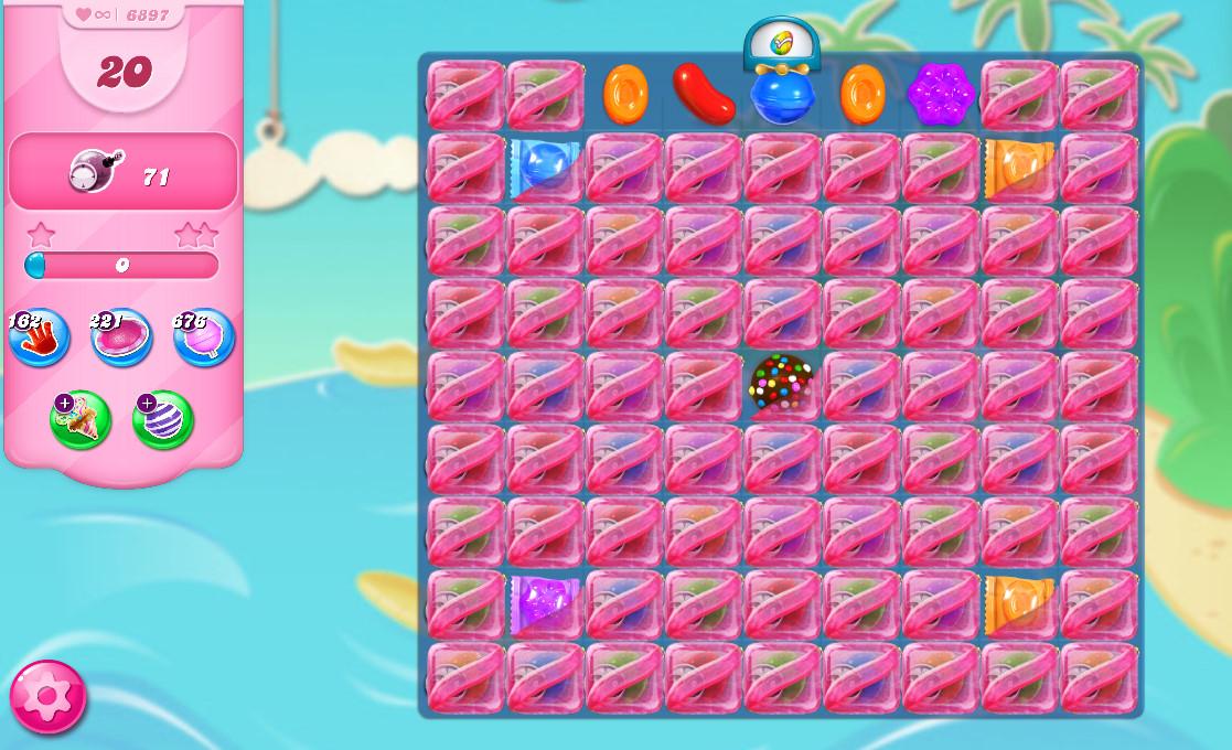 Candy Crush Saga level 6897