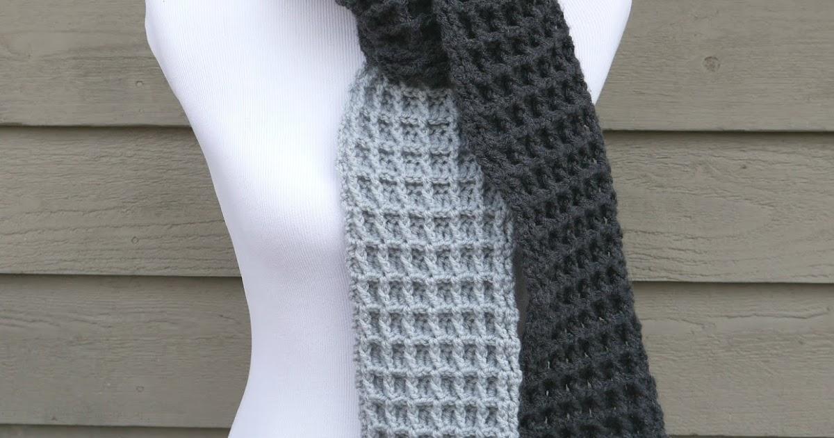 Easy Two Color Crochet Scarf Patterns: Fiber flux free crochet ...