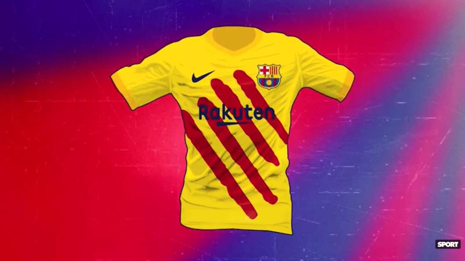 37ba98e1555 In a a bit of Twitter banter, Kappa Spain just reacted to the leak of the  Barcelona 19-20 fourth kit by Nike, claiming that it uses a design of their  ...