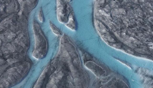 Λιώνει η Γροιλανδία στους 22 βαθμούς Κελσίου - Ποτάμια λιωμένου πάγου (βίντεο)