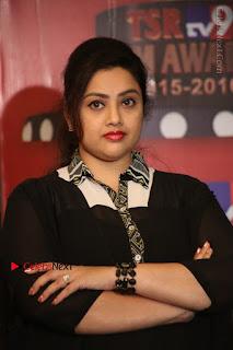 Tamil Actress Meena Latest Stills in Black Dress at TSR TV9 Awards Press Meet  0106.JPG