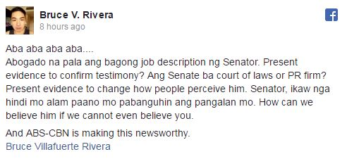 'Abogado Na Pala Ang Bagong Job Description Ng Senator' Atty. Rivera Slams Trillanes For Protecting Matobato