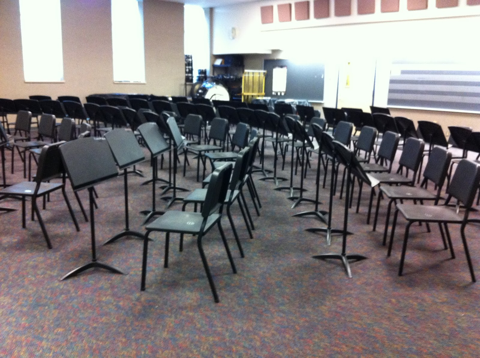 middle school band maven decorating the band hall getting ready rh msbandmaven blogspot com Wedding Chair Bands Sequin Chair Bands