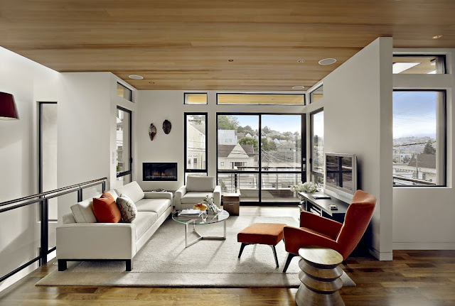 World Of Architecture: Warm Modern Vertical Home In San