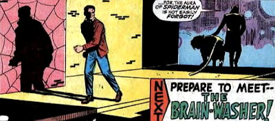 Amazing Spider-Man #58, don heck, john romita, peter parker walks away after a final encounter with ka-zar and zabu in the street