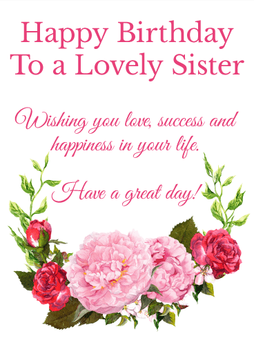 Birthday Wishes and Messages for sister