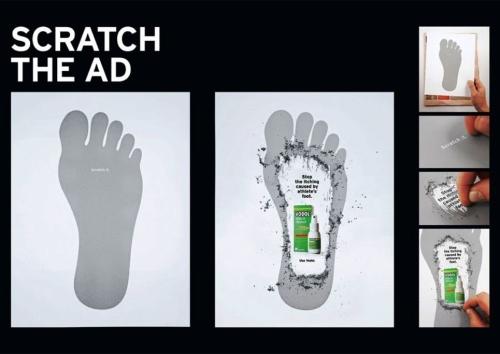 Реклама спрея для избавления от кожных заболеваний