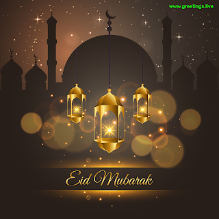 Ramadan Eid Mubarak Greetings Images ramadan lanterns mosque