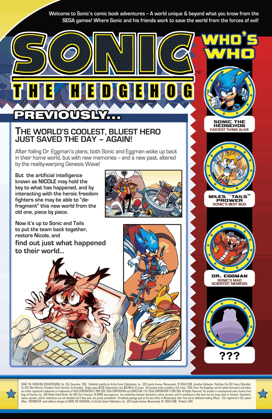 Read online Sonic The Hedgehog comic -  Issue #253 - 2