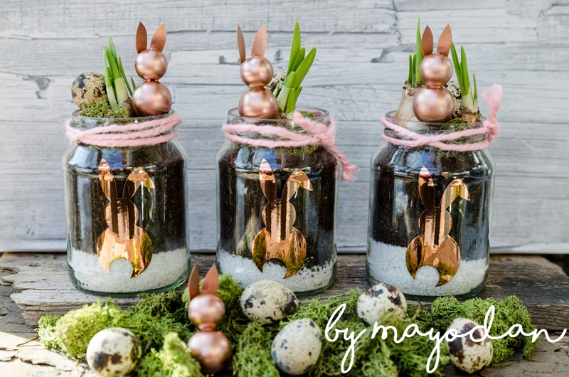 Frühlingsdeko upcycling frühlingsdeko aus alten gläsern mayodans home garden