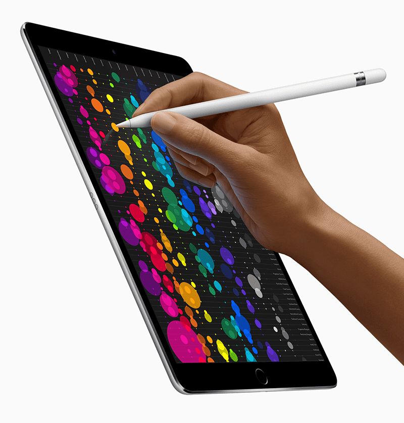 With the Apple Pen
