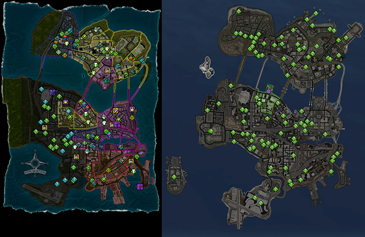 Saints Row map comparison
