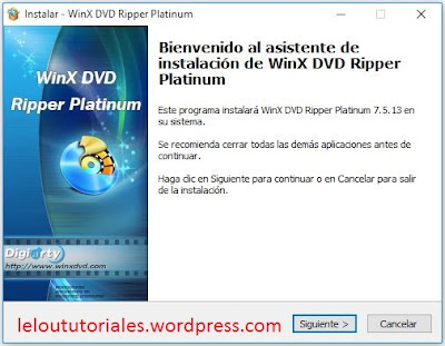 WinX DVD Ripper Platinum v7.5.13 + Serial [Full] [MEGA]