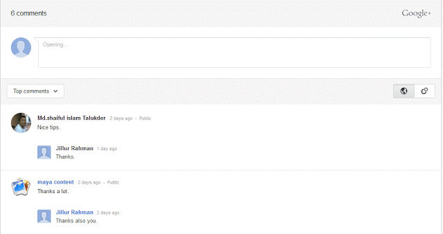 Easily Add Google Plus Comments in Blogger