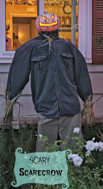 Making a scarecrow, homemade scarecrow, garden scarecrow