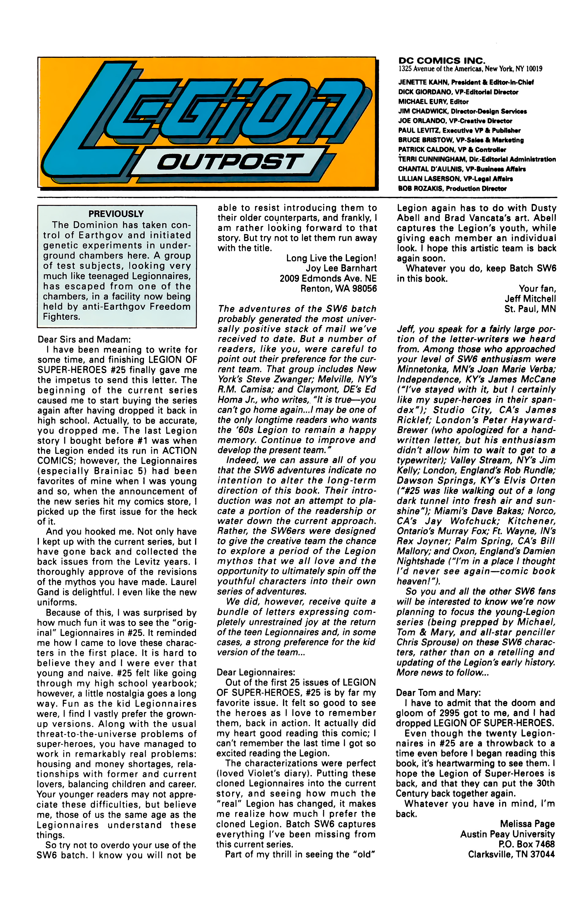 Legion of Super-Heroes (1989) 30 Page 26