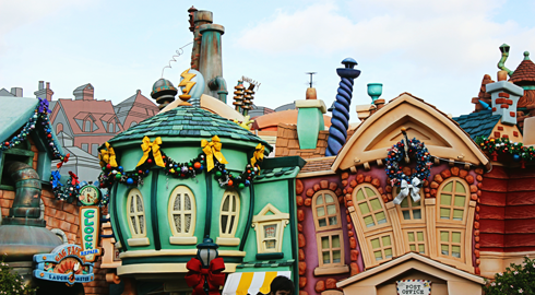 disneyland park christmas california