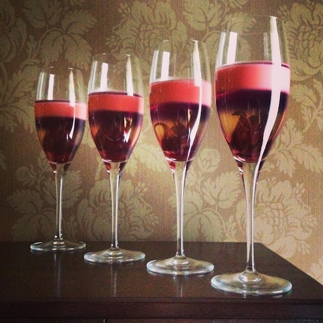 Champagne Hibiscus Gelatine