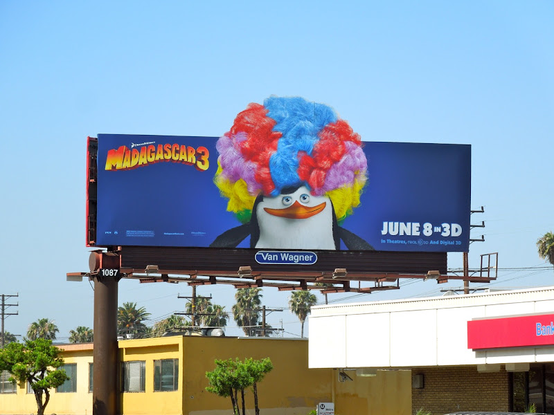 Madagascar 3 Penguin billboard