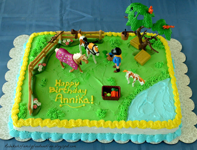 Family Food And Fun Horse Pasture Cake And The Party Fun