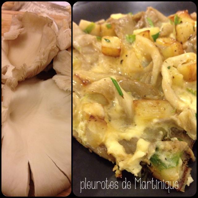 Sweet Kwisine, omelette, pleurotes, Martinique, champignons, pommes de terre, végétarien