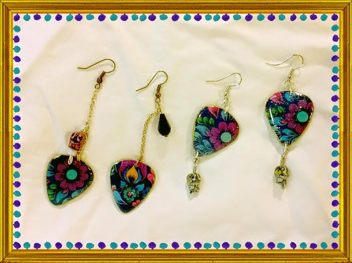 Panettone Guitar Pick Earrings