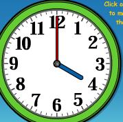 tam saatler ingilizce nasıl okunur