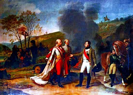 Encuentro entre Napoleón I y Francisco I Después de la batalla de Austerlitz