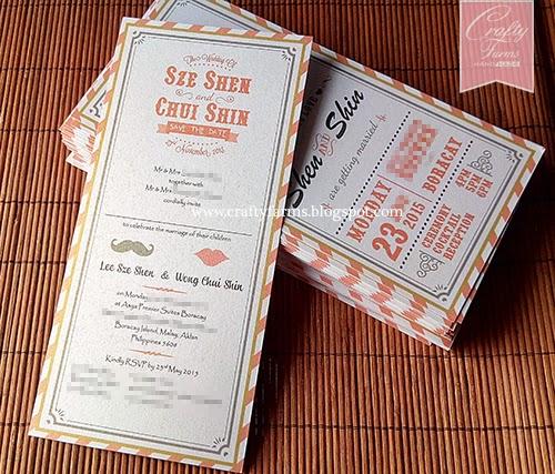 Orange Themed Cartoon Wedding Invitation Card Printing, Boracay, Phillipines, Malaysia, Kuala Lumpur Kad Kahwin